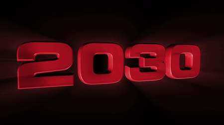 konec : 2030, 3d red animation on black background