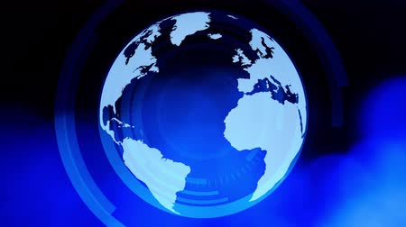news world : Rotation globe terrestre avec un fond abstrait