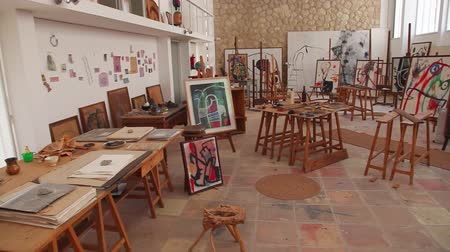 galeria : Joan Miro atelier on Mallorca Island Stock Footage