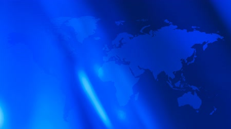 látomás : Futuristic technology world map blue motion background Stock mozgókép