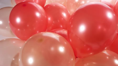 doğum günü : Gold red balloons birthday party motion background