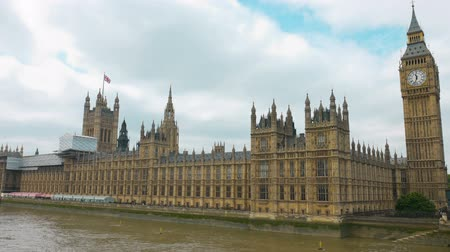 london england : Palace of Westminster, Westminster Abbey, London, England, UK Stock Footage