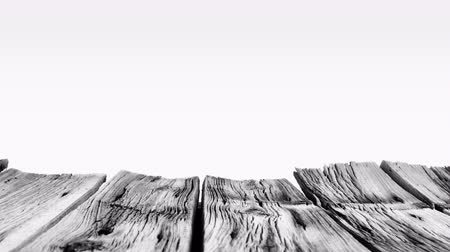 madeira : Black and white old wood planks 4k Vídeos
