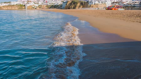 Sunny summer day in Portuguese city Albufeira Wideo