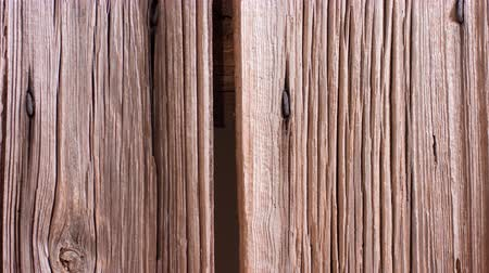 antique grunge : Country old wood boards panels Stock Footage