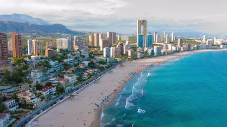 Costa Blanca coast, Spanish resort Benidorm panoramic view
