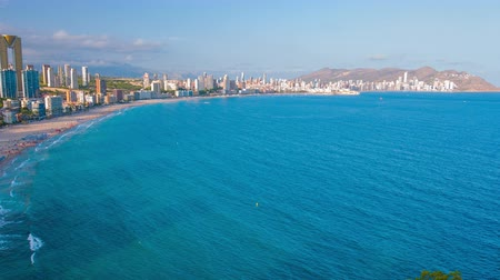 Summer Spanish destination Benidorm, Costa Blanca coast Wideo