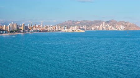 Famous summer destination in Spain Benidorm city