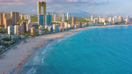 Benidorm city in Spain, Mediterranean sea coast Costa Blanca