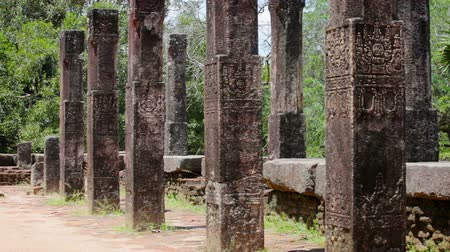 polonnaruwa : Video 1920x1080 - Columns of the ancient ruined temple in Anuradhapura, Sri lanka