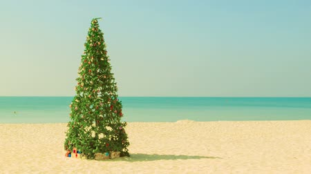ünnepies : Video 1920x1080 - Christmas tree on a tropical beach