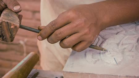 handwerk : Video 1920 x 1080 - Stone Carving Workshop. Kambodscha. Siem Reap Videos