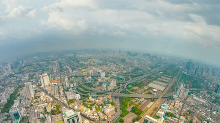 bird's eye view : Video 1080p - Panoramic view of the big city. Birds-eye view. Bangkok