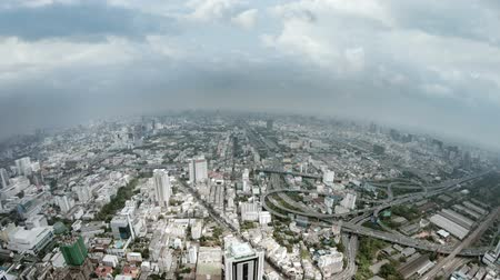 панорамирования : Video 1920x1080 - Slow. panning shot across a large swath of downtown Bangkok from the top of a massive skyscraper. in timelapse.