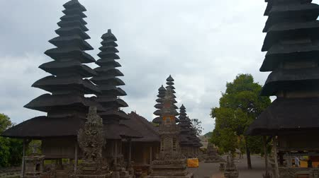 tiered : Pura Tamu Ayun royal Hindu temple complex with unique architecture an important cultural site in Bali, Indonesia. Video FullHD