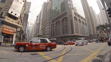 usual : HONG KONG. CHINA - CIRCA JAN 2015: Crossroads at the usual street. FullHD 1080p video