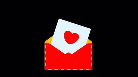 png : Red envelope with love letter.