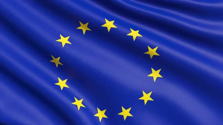 EU flag with UK star, the concept of Brexit. Stock Footage