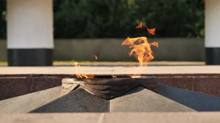 World War II Eternal flame in Krasnodar city, Russia - is a war memorial