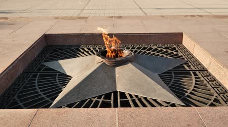 wwii : World War II Eternal flame in Krasnodar city, Russia - is a war memorial