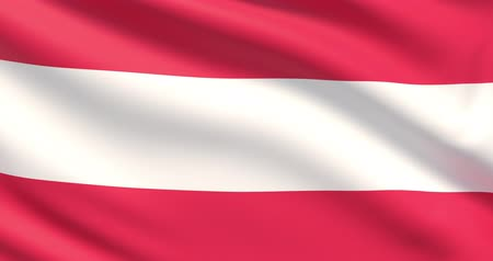 The flag of Austria. Waved highly detailed fabric texture.