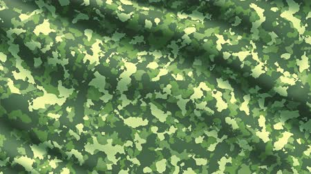 khaki : Military war background camouflage khaki fabric texture Stock Footage
