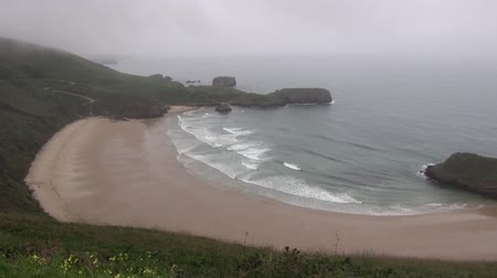 empty beach : view of coastline in Asturias at Spain Europe