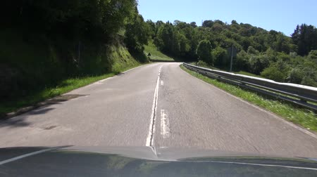 ограждение : subjective shot driving at road in Asturias Spain  Стоковые видеозаписи