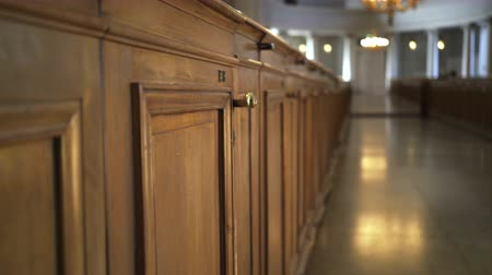 lutheran : Interior of Helsinki cathedral Stock Footage