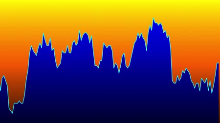 memeli : Blue line graph on orange background chart of stock market investment trading.