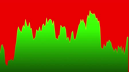 zisky : green line graph on red background chart of stock market investment trading.