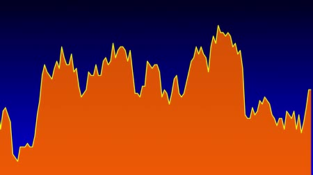 orange line graph on blue background chart of stock market investment trading.