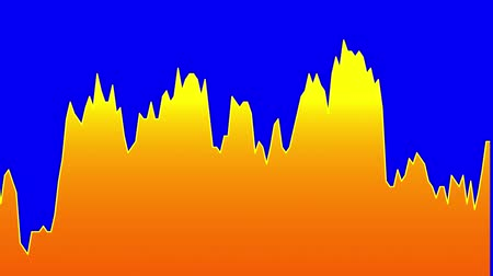 rali : orange line graph on blue background chart of stock market investment trading.