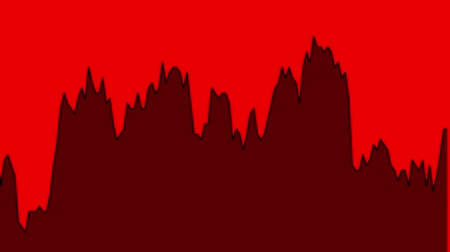 ralli : red line graph on red background chart of stock market investment trading. Stok Video