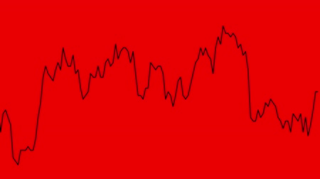 castiçal : red line graph on red background chart of stock market investment trading. Vídeos