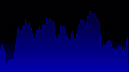 castiçal : blue line graph on black background chart of stock market investment trading.