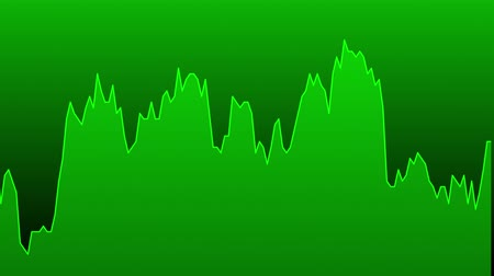 green line graph on green background chart of stock market investment trading.