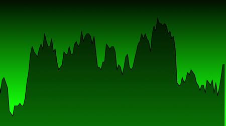 candlestick : green line graph on green background chart of stock market investment trading.