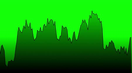 ralli : green line graph on green background chart of stock market investment trading.