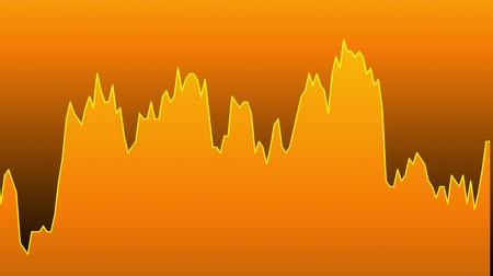 tendency : orange line graph on orange background chart of stock market investment trading. Stock Footage