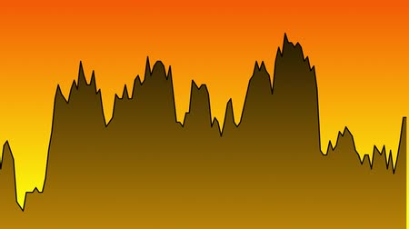 ralli : black line graph on orange background chart of stock market investment trading.