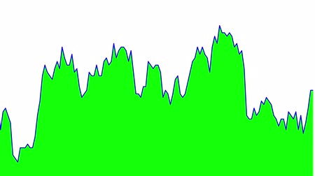 tendency : green line graph on white background chart of stock market investment trading.