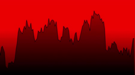 ralli : black line graph on red background chart of stock market investment trading.