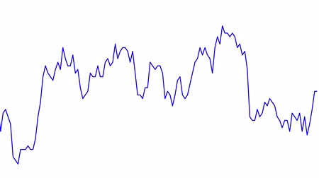 tendency : blue line graph on white background chart of stock market investment trading.