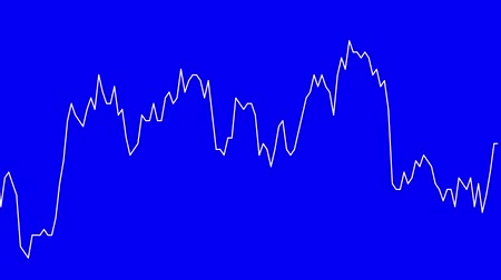 white line graph on blue background chart of stock market investment trading.