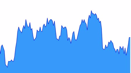 ralli : blue line graph on white background chart of stock market investment trading.