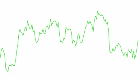 castiçal : green line graph on white background chart of stock market investment trading.