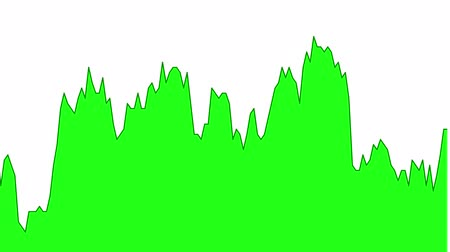 green line graph on white background chart of stock market investment trading.