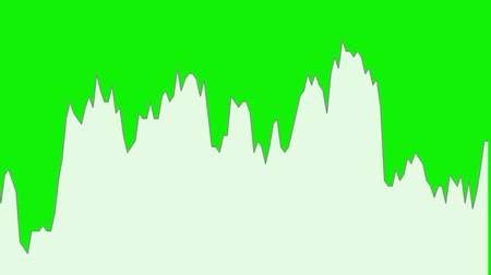 white line graph on green background chart of stock market investment trading.