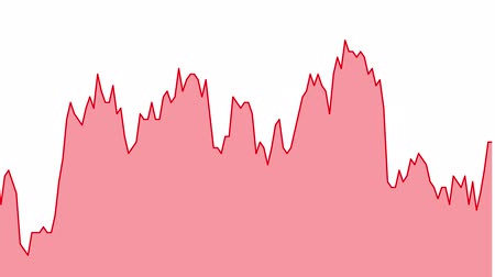 red line graph on white background chart of stock market investment trading.